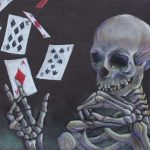 Skull and Cards Art by Matheny