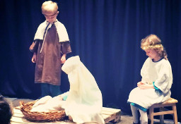 Nativity Scene at Trojan Tots