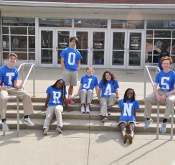 Students on the front steps of BCHS